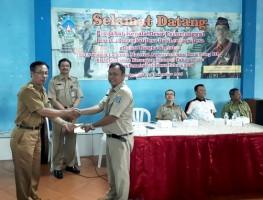 Penyampaian Bantuan Material Anggaran Dana Desa Tahap III dan Bantuan Keuangan Khusus Tahap II Untuk Pembangunan di Padukuhan Tahun 2019