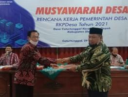 BPD Caturtunggal Gelar MUSDES Bahas Rencana Kerja Pemerintah Desa Tahun 2021