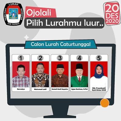 JANGAN LUPA 20 Desember 2020, Pemilihan Lurah Serentak di Kabupaten Sleman Pasca Penundaan
